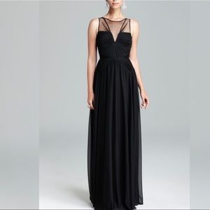 Adrianna Papell Elegant Black tulle gown size 8